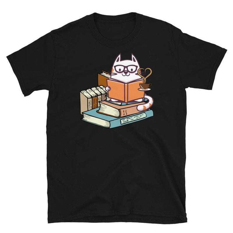 Unisex Cattuccino Book Coffee Cat Softstyle Tee