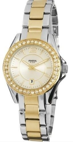 Fossil Women's ES2880 Riley Mini Stainless Steel Two-Tone Watch Fossil.