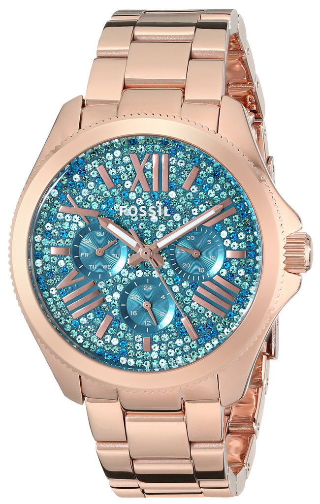 Fossil Women's AM4594 Cecile Multifunction Stainless Steel Watch - Rose Gold-Tone