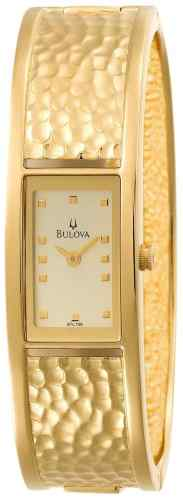Ladies Bulova stainless steel gold tone 97L108