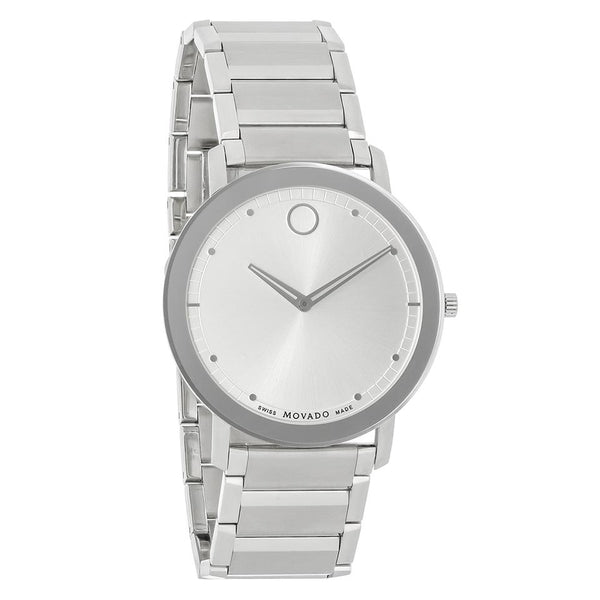MOVADO S.STEEL WHT DIAL SWISS MOVEMENT W RESISTANT