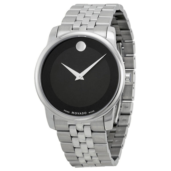 MOVADO S.STEEL, BLK DIALSWISS MADE QUART