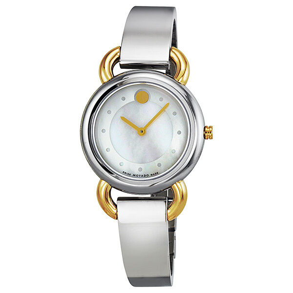Ladies Linio Mother of Pearl Dial Two-Tone Stainless Steel. Watch model # 0606552
