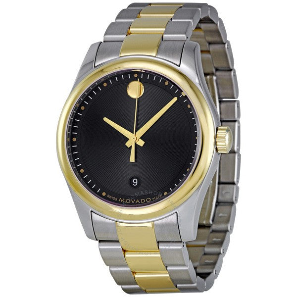 Men Museum Black Dial Two-Tone Stainless Steel  Watch MODEL # 0606605