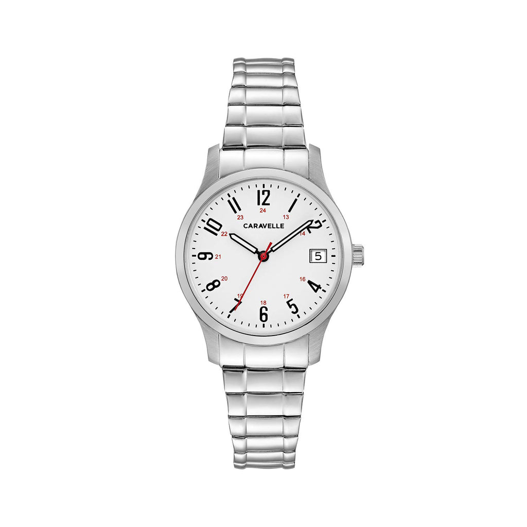 Caravelle Women's Quartz Stainless Steel Dress Watch, Color:Silver-Toned (Model: 43M119)