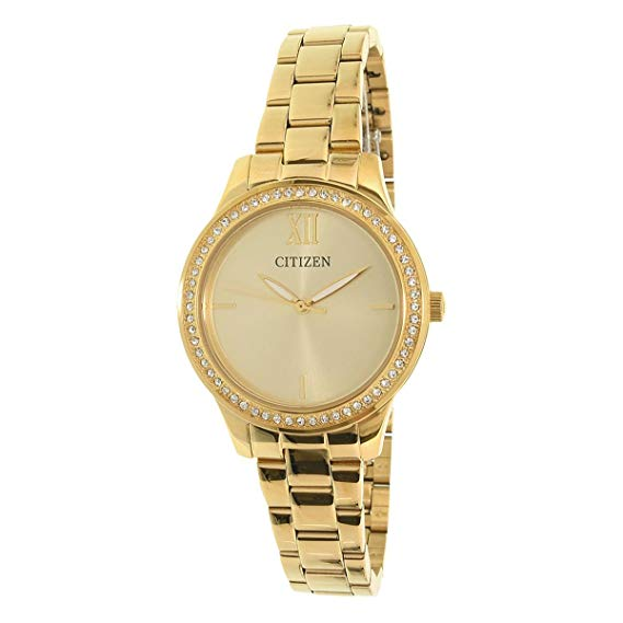 Citizen EL3088-59P Wrist Gold Dial Women's Watch