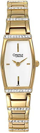 Caravelle by Bulova Women's 45L97 Crystal Accented White Dial Watch