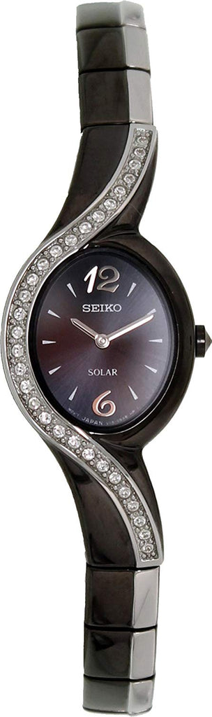 SEIKO Solar Swarovski Crystals Ladies Watch Item No. SUP123