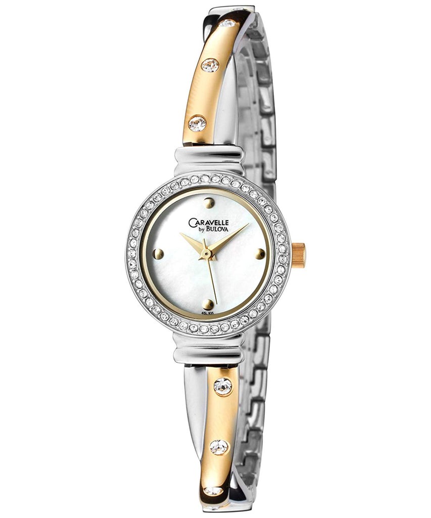 Caravelle Stainless Steel 2 Tone Finish Ladies Watch - Caravelle 45L105