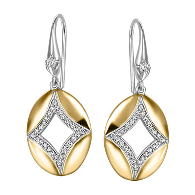 10K EARRING DIAMOND