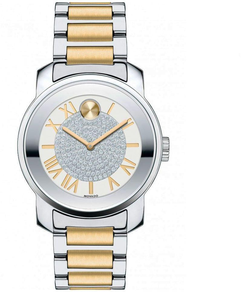 Ladies Movado Bold Silver Dial Two-tone Watch. Model # 3600256