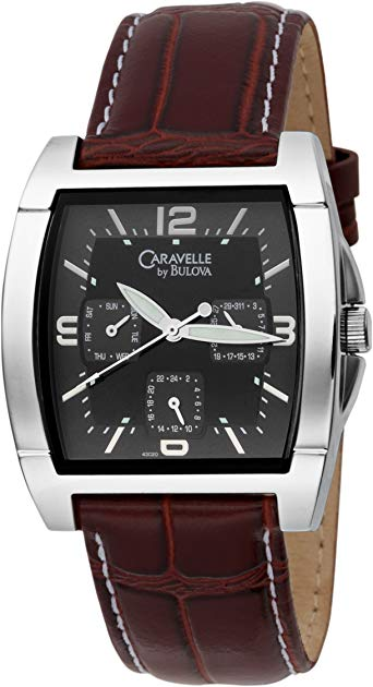 Caravelle by Bulova Men's 43C20 Bracelet Black Dial Watch