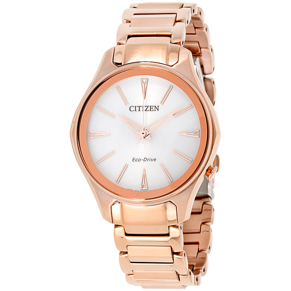 Citizen Modena White Dial Rose Gold-tone Ladies Watch Item No. EM0593-56A