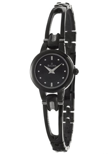 BULOVA Black Ion-Plated Bracelet Ladies Watch Item No. 98L142
