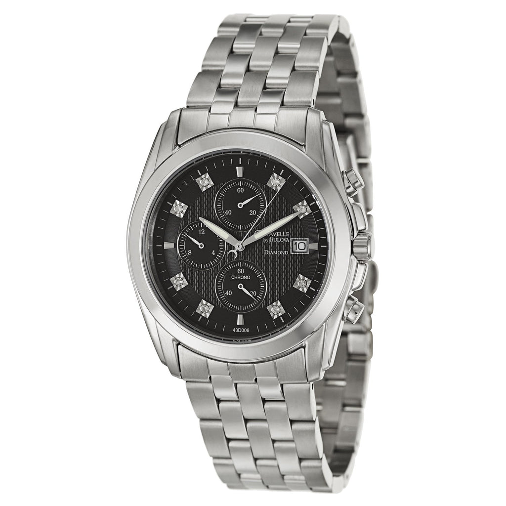 Caravelle By Bulova Men Japanese Quartz Stainless Steel Watch (43D006)