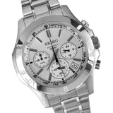 Seiko Seiko Chronograph  SEIKO Chronograph Silver Dial Stainless Steel Men's Watch Item No. SSB099