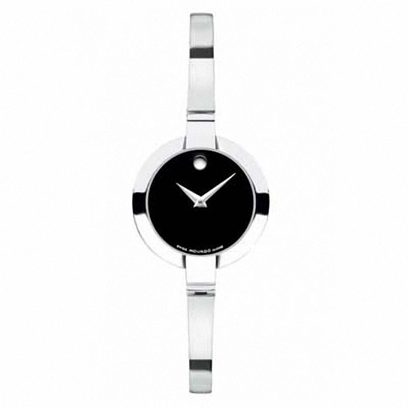 Ladies Movado Bela black dial watch. Model # 0605853