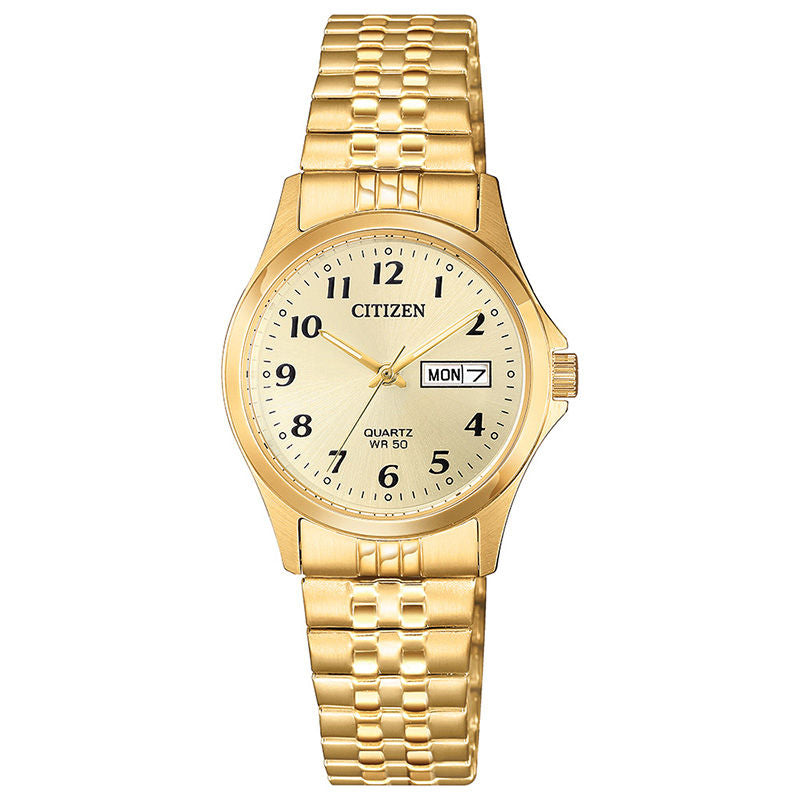 Citizen Quartz Womens Gold Tone Stainless Steel Expansion Watch-EQ2002-91p
