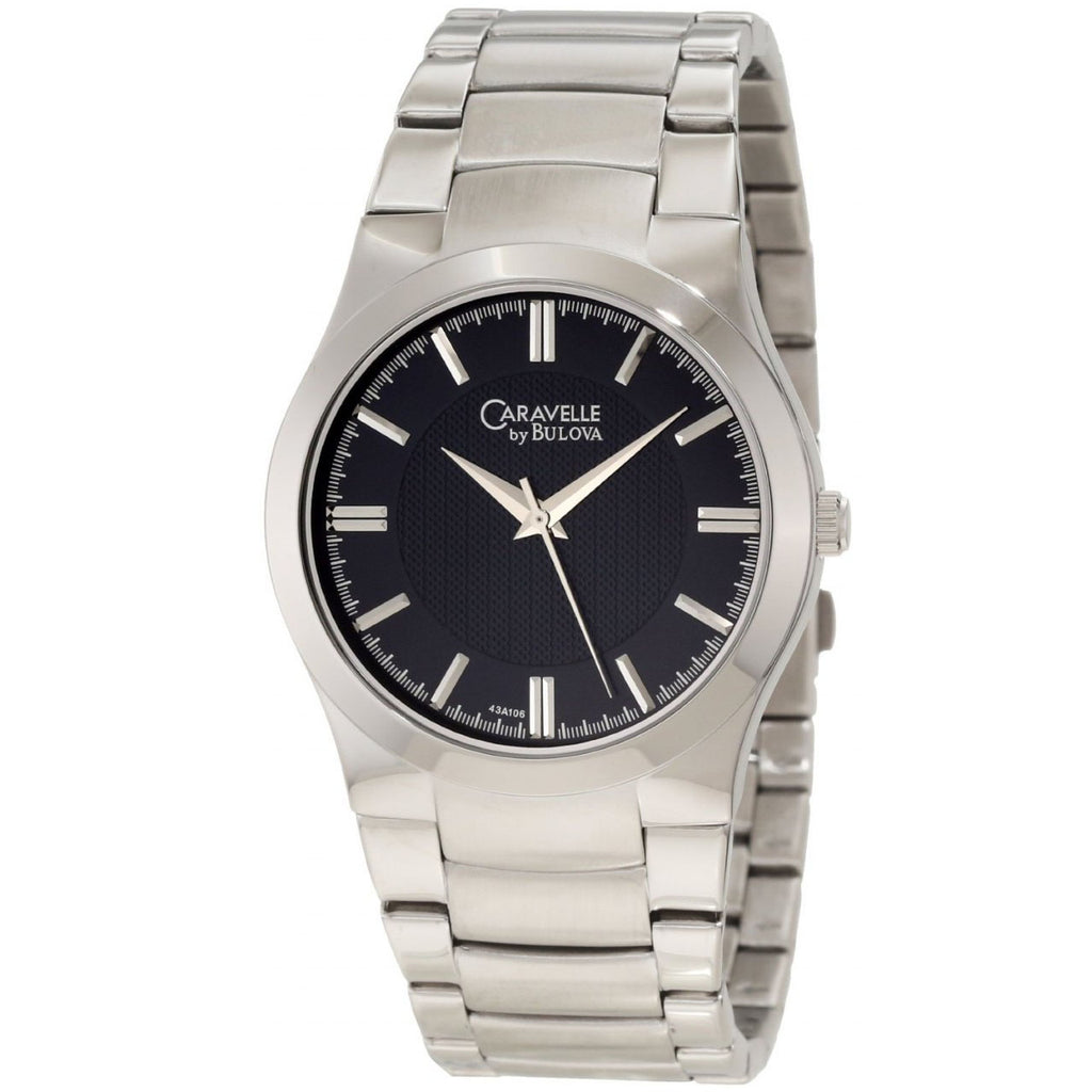 Caravelle By Bulova Silver Mens Watch 43A106