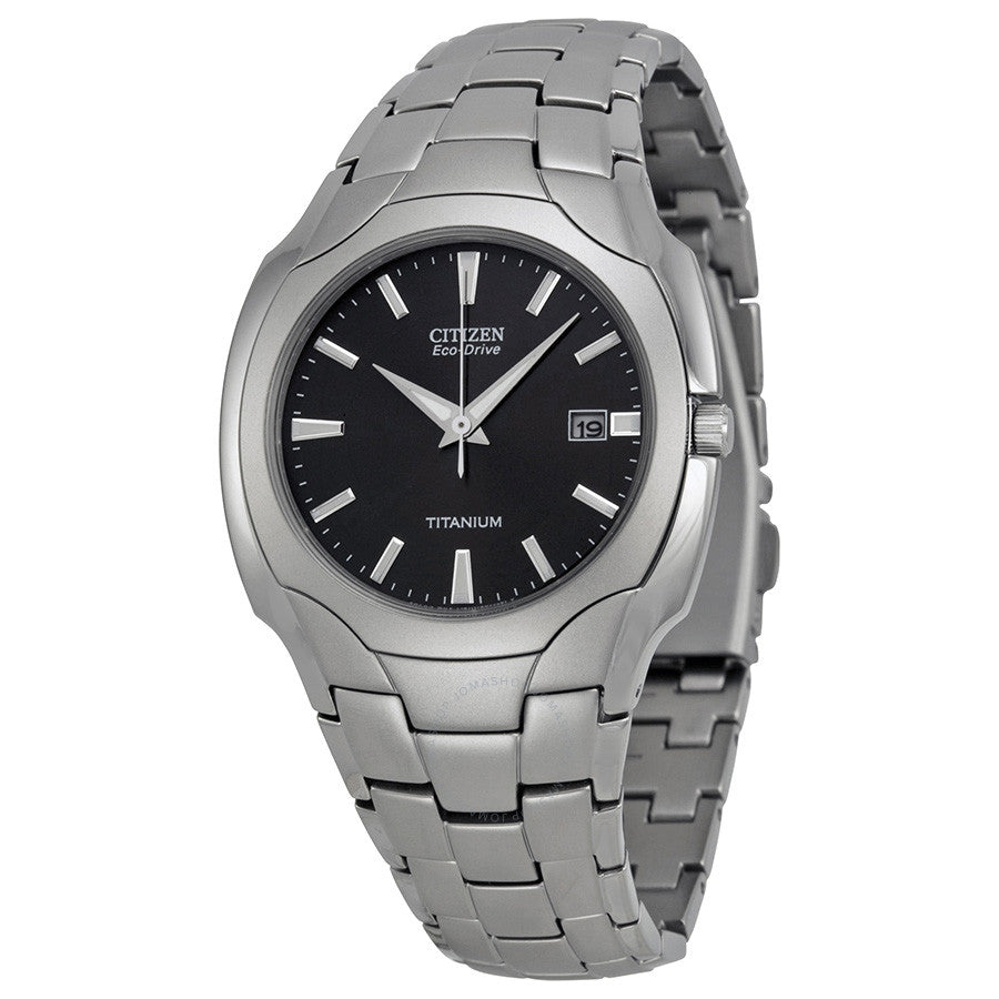 Men's Citizen Eco Drive Black Dial Titanium Watch Model No. BM6560-54H