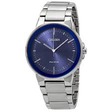 Men's Citizen Eco-Drive Axiom Blue Dial. Watch Model # BJ6510-51L