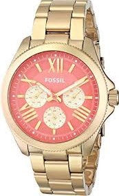 Fossil AM4548 Cecile Multi-Function Coral Dial Gold-plated