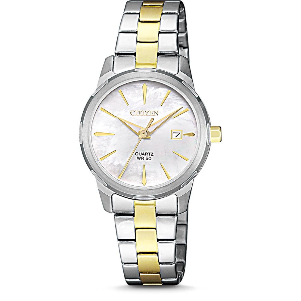 CITIZEN  EU6074-51D Women's Quartz Two Tone Yellow Bracelet Watch
