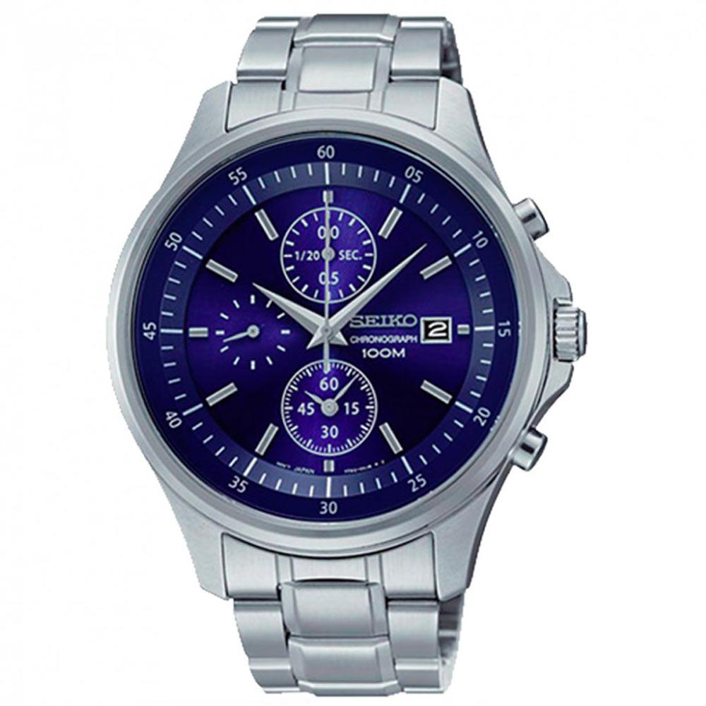 SEIKO Blue Dial Chronograph Stainless Steel Men's Watch Item No. SNDE21