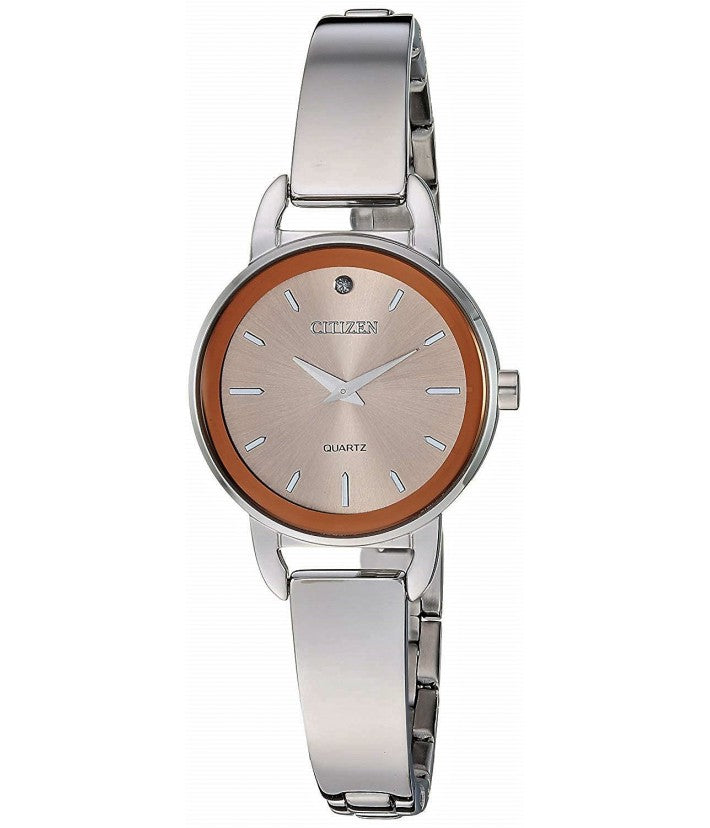 Citizen Women's Crystal Stainless Steel Half Bangle Watch - EZ6370-56X