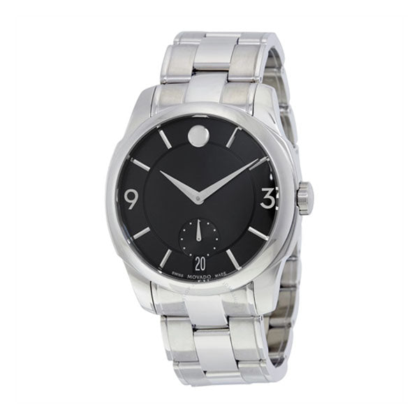 Men's Movado LX Black Dial Stainless Steel Watch Model No. 0606626