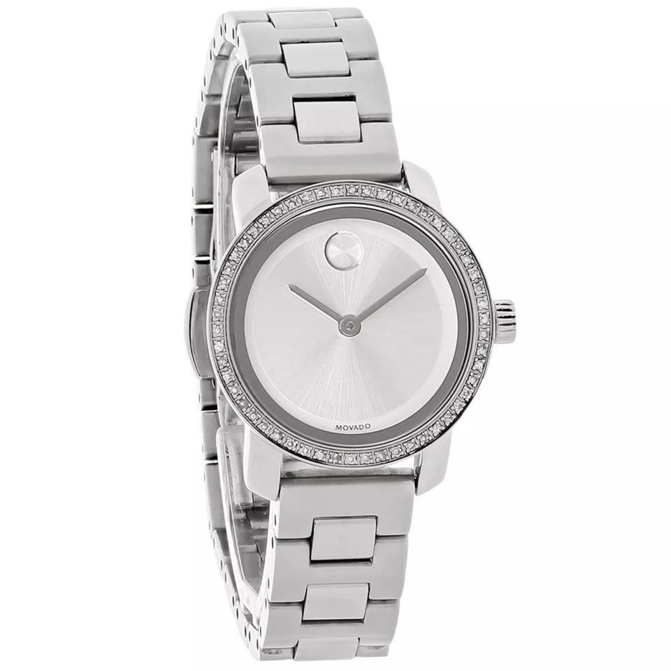 Ladies Bold Silver Dial Stainless Steel Diamond Watch. Model # 3600214