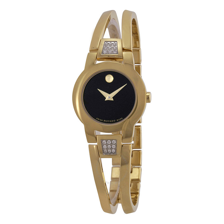 Ladies MOVADO Amorosa Gold-Tone Ladies Watch model # 0604984