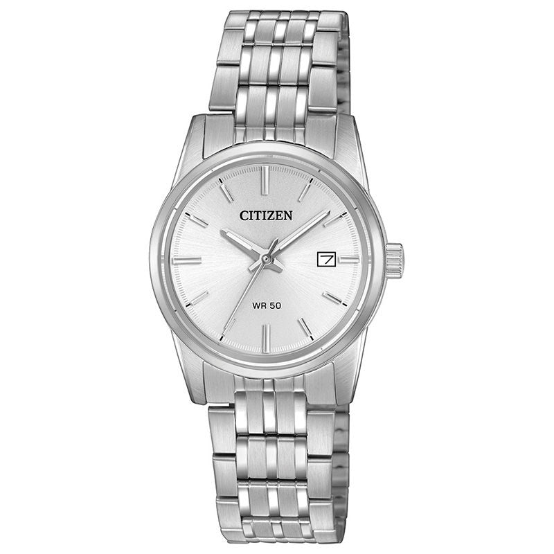 Ladies' Citizen Quartz Watch with White Dial (Model: EU6000-57A)