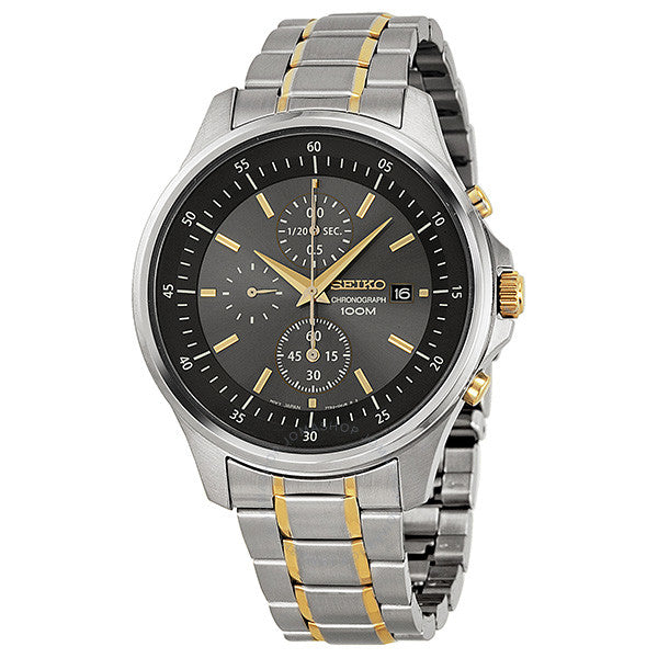 Seiko Gray Dial Two-tone Stainless Steel Men's Watch SNDE25