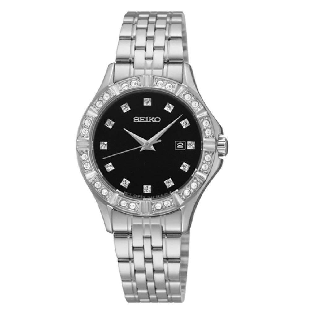 SEIKO Black Dial Stainless Steel Ladies Watch Item No. SXDF09