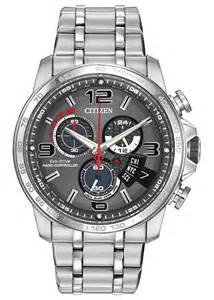 Citizen Chrono-Time A-T Eco-Drive Grey Dial Stainless Steel Men's Watch BY0100-51H
