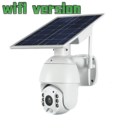 WIfi 1080P HD Solar Panel Wifi Version Outdoor Surveillance Waterproof CCTV Camera Smart Home Two-way Voice Intrusion Alarm