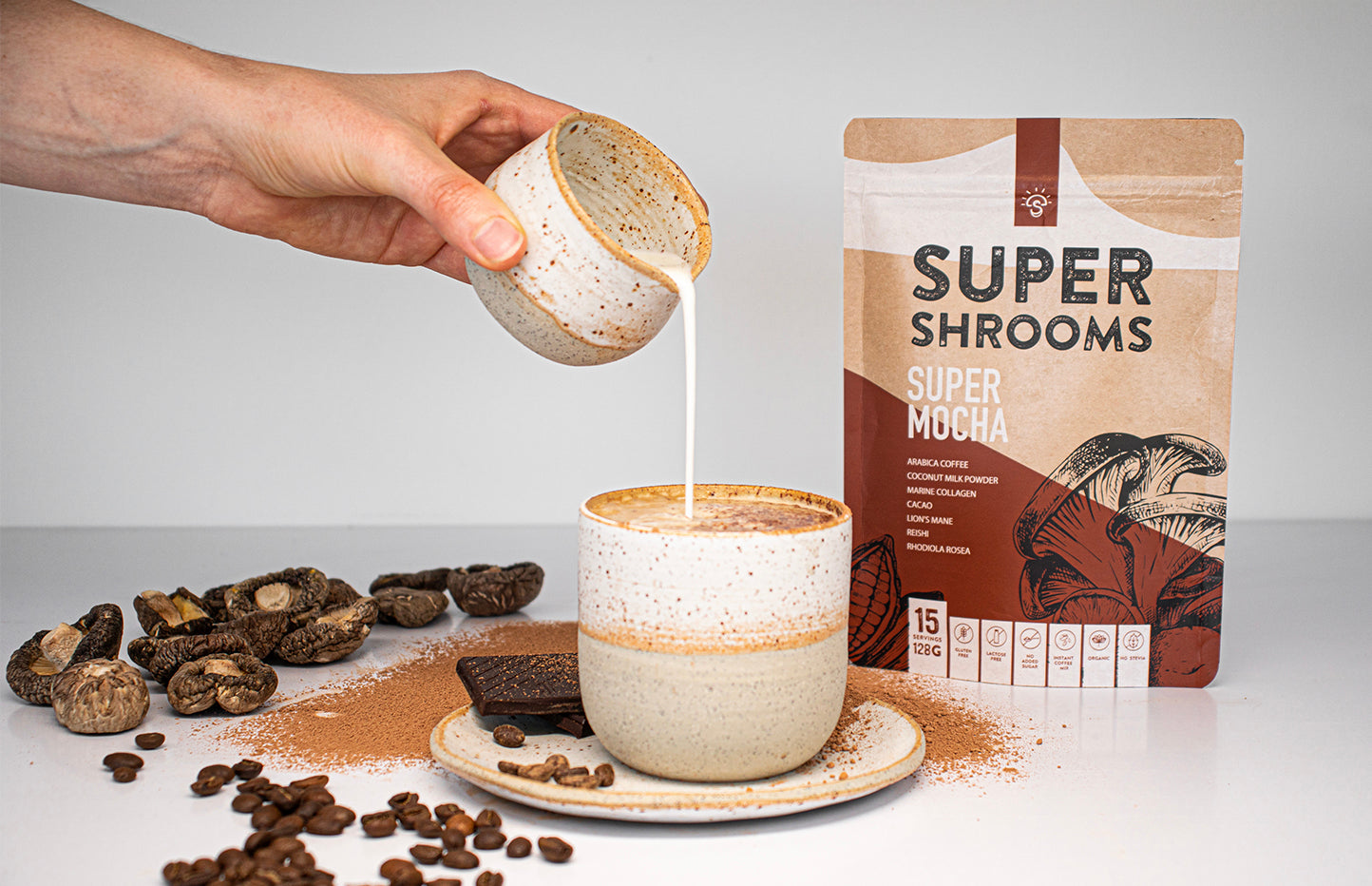 Super Shrooms Super Mocha Arabica Coffee