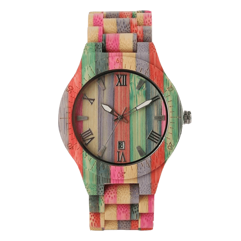 RAINBOW BAMBOO QUARTZ WATCH