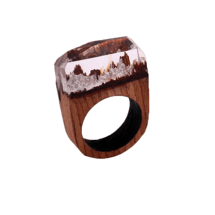 Resin Wood Handmade Dreamy Ring