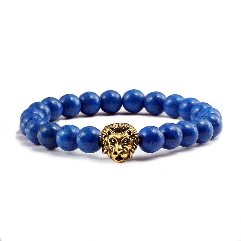 Natural Stone Lion Head Bracelet