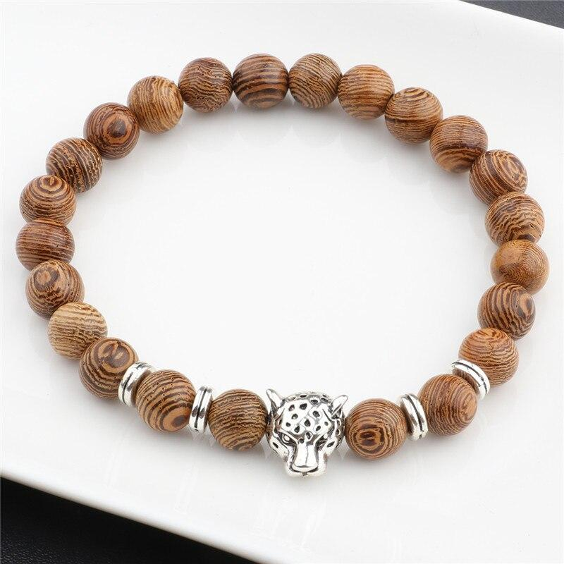 Wooden Beads Bracelet with a twist