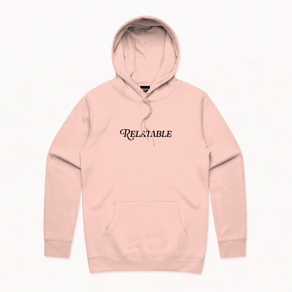 Relatable Circle Light Pink Hoodie