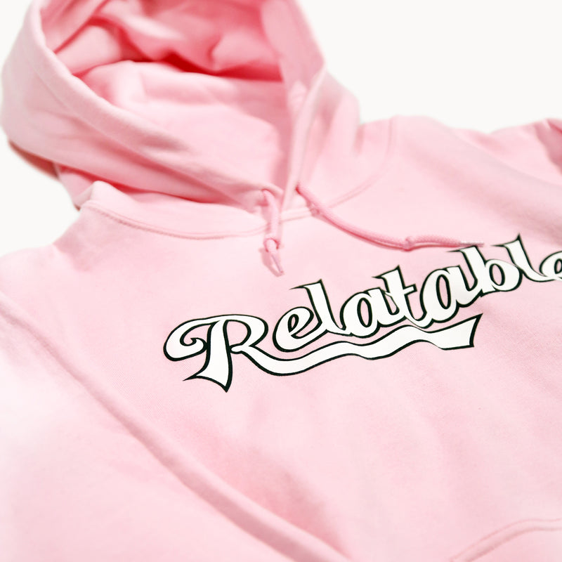 Relatable Light Pink Hoodie
