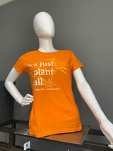 """It's just a plant, y'all"" Women's T-shirt (Tangerine) - Tribe CBD + Cannabinoids"