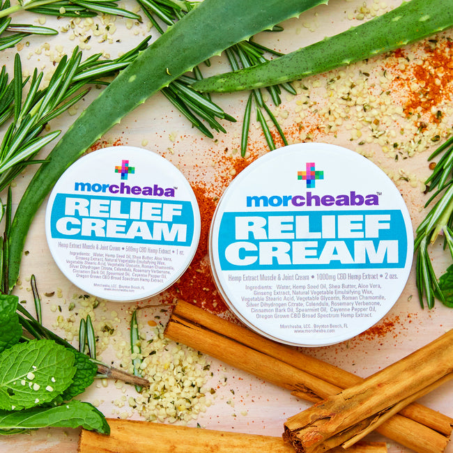 Morcheaba Relief Cream-2 sizes/strengths - Tribe CBD + Cannabinoids