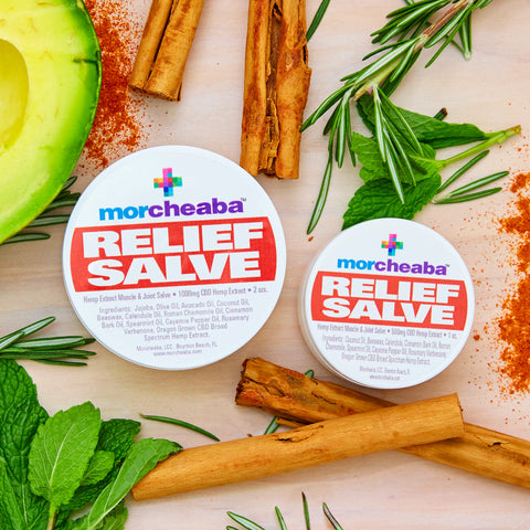 Morcheaba Relief Salve- 2 sizes/strengths - Tribe CBD + Cannabinoids