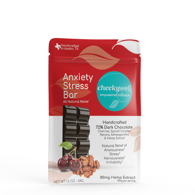 Cheekywell Anxiety Stress CBD Chocolate Bar - Tribe CBD + Cannabinoids