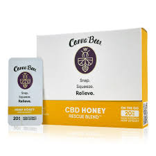 Canna Bees Wildflower Raw CBD Honey 20mg flip packs - Tribe CBD + Cannabinoids