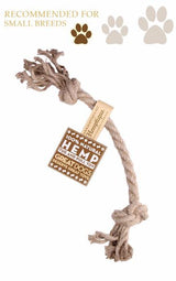 Hemp Rope Tug+Pull Dog Toy - Small - Tribe CBD + Cannabinoids